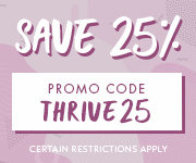 Save with promo code THRIVE25